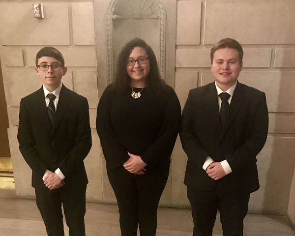The Henry H. Stambaugh Concert Band presented its fall concert on November 19. Students audition for this group in September and rehearse once a week during the school year. Congratualtions to Lowellville band members John Cheliras, Alessandra Montanez, and Dylan David for earning spots in this group.
