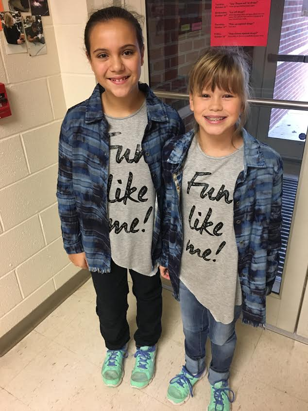 Laila McCaughtry and Johnna Shaw Twin Day!