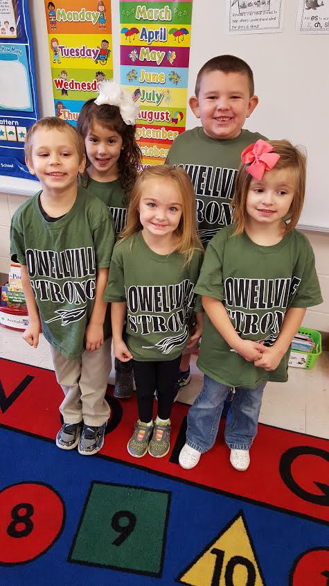 Kindergarten students Stay Strong against drugs!