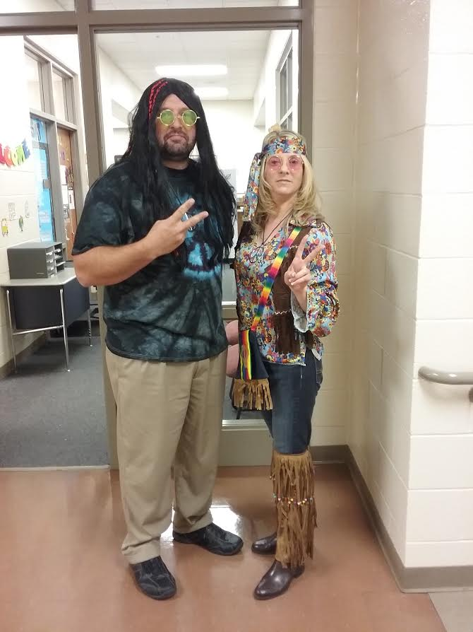 "Mr. Van Kirk and Ms. Firmstone ""Say Peace out to Drugs!"""